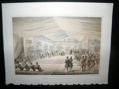 Japan Perry Expedition 1856 Antique Print. Delivery of the Presidents Letter | Albion Prints